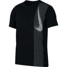 Nike Mens Dri-FIT Short-Sleeve Training Tee Black S, Black, rebel_hi-res