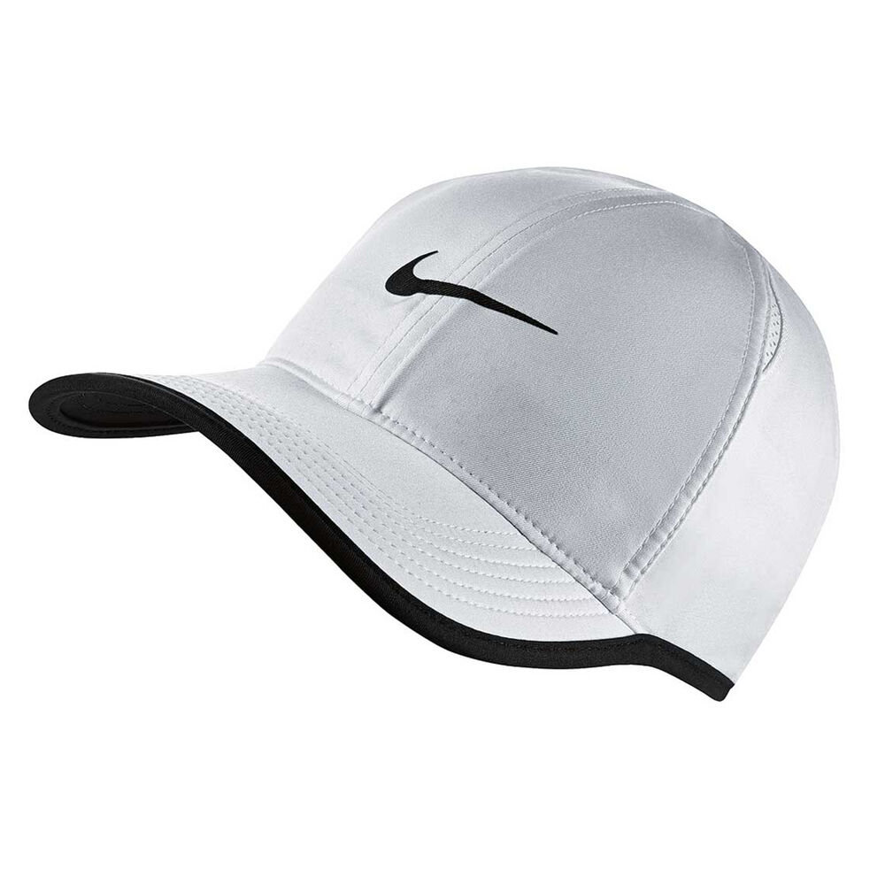 5902099432bc4 Nike Feather Light Running Cap White   Black