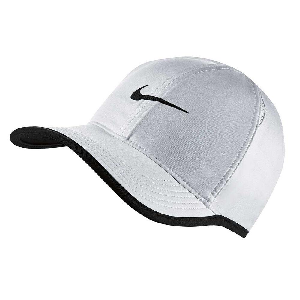 Nike Feather Light Running Cap White   Black  b7b11e81fbe