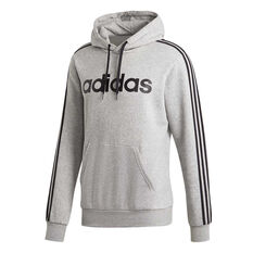 28bd563348ec adidas Mens Essentials 3-Stripes Pullover Hoodie Grey S