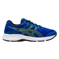 Asics GEL Contend 6 Kids Running Shoes Blue / Green US 4, Blue / Green, rebel_hi-res