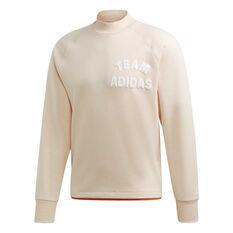 adidas Mens VRCT Crew Sweatshirt Natural S, Natural, rebel_hi-res