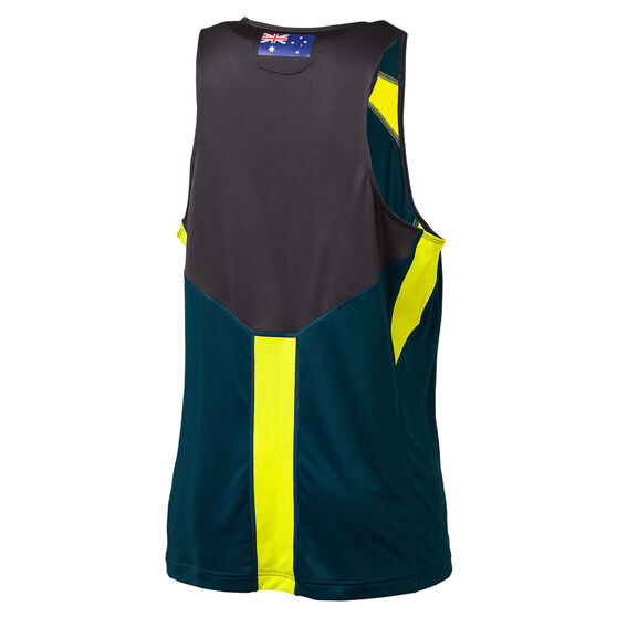 Cricket Australia 2019/20 Mens Training Singlet, Green, rebel_hi-res