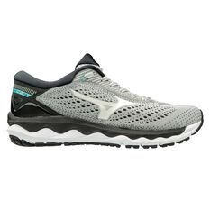 Mizuno Wave Sky 3 Womens Running Shoes Grey / White US 7, Grey / White, rebel_hi-res