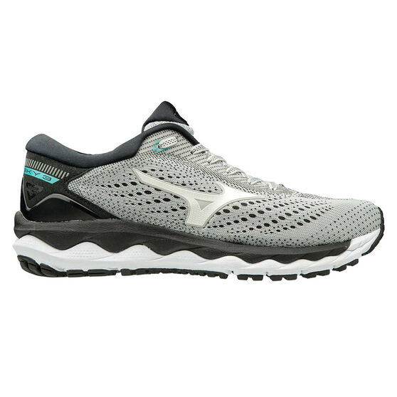 Mizuno Wave Sky 3 Womens Running Shoes, Grey / White, rebel_hi-res