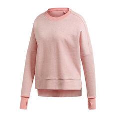 adidas Womens Versatility Crew Sweatshirt Pink XS, Pink, rebel_hi-res