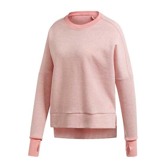 adidas Womens Versatility Crew Sweatshirt, Pink, rebel_hi-res