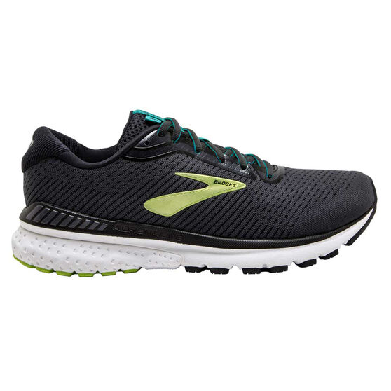 Brooks Adrenaline GTS 20 Mens Running Shoes, Black/Lime, rebel_hi-res