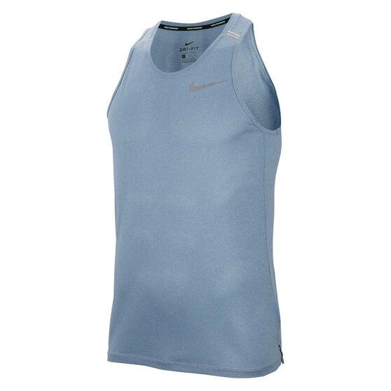 Nike Mens Dri-FIT Cool Miler Running Tee, Blue, rebel_hi-res
