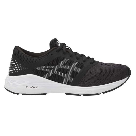 Asics Roadhawk FF Kids Running Shoes, Black / White, rebel_hi-res