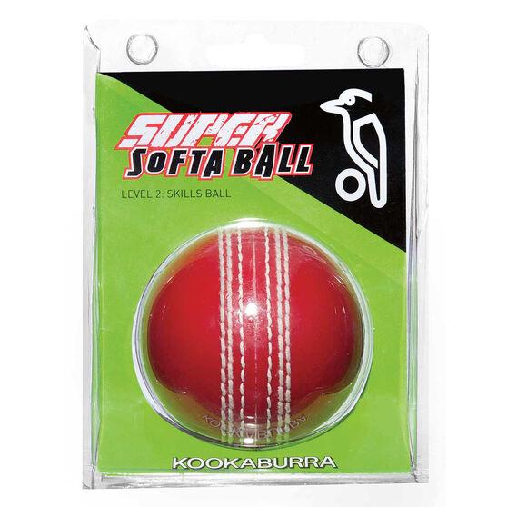 Kookaburra Kooka Softa Cricket Ball, Red, rebel_hi-res