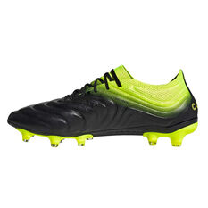 adidas Copa 19.1 Mens Football Boots Black / Yellow US Mens 7.5 / Womens 8.5, Black / Yellow, rebel_hi-res