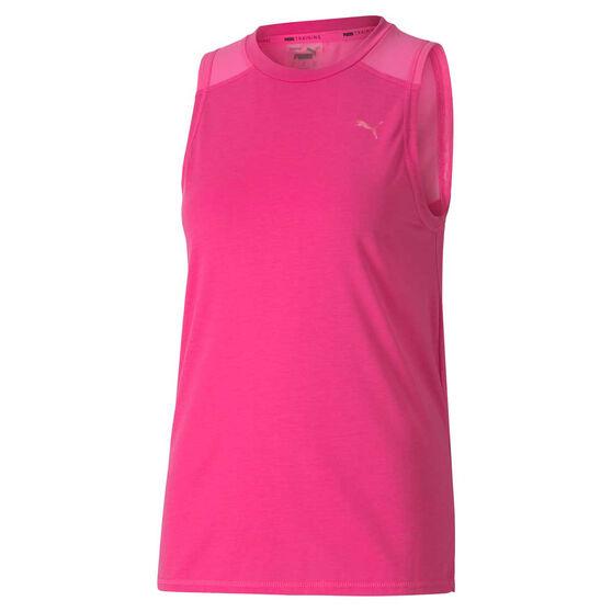 Puma Womens Be Bold Mesh Training Tank, Pink, rebel_hi-res
