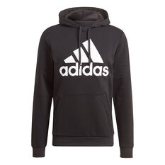 adidas Mens Volume Fleece Big Logo Hoodie Black XS, Black, rebel_hi-res