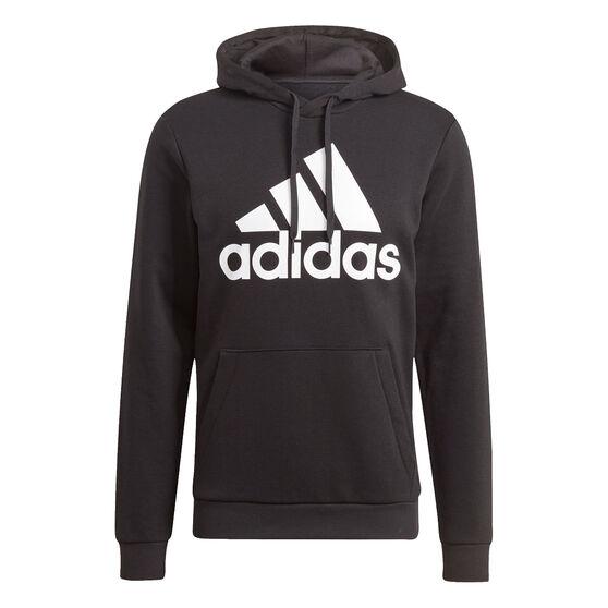 adidas Mens Volume Fleece Big Logo Hoodie, Black, rebel_hi-res