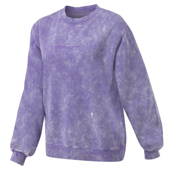 Running Bare Womens Legacy Crew Sweater, Purple, rebel_hi-res