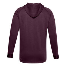 Under Armour Mens Project Rock Charged Cotton Hoodie Purple S, Purple, rebel_hi-res