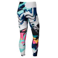 Nike Womens One 7 / 8 Training Tights Print XS, Print, rebel_hi-res