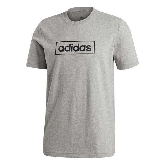 adidas Mens Core Box Graphic Tee Grey XS, Grey, rebel_hi-res