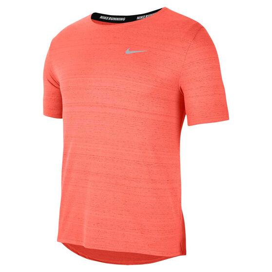 Nike Mens Dri-FIT Miler Tee Orange XL, Orange, rebel_hi-res