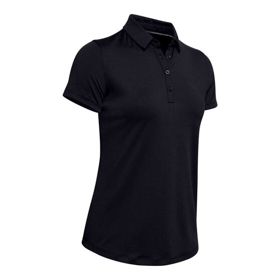Under Armour Womens Zinger Golf Polo Black XL, Black, rebel_hi-res