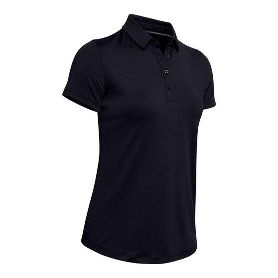 Under Armour Womens Zinger Golf Polo, Black, rebel_hi-res