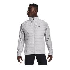 Under Armour Mens UA Run Insulate Hybrid Jacket Grey S, , rebel_hi-res
