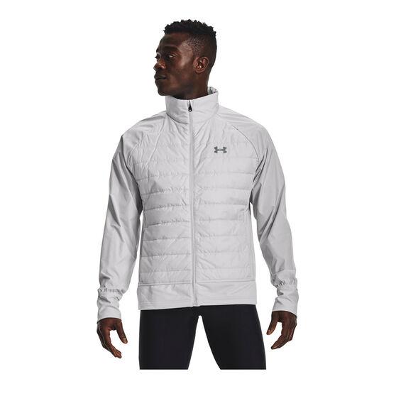 Under Armour Mens UA Run Insulate Hybrid Jacket, , rebel_hi-res