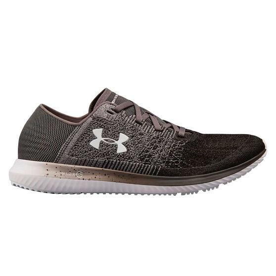 Under Armour Threadborne Blur Mens Running Shoes Grey / Black US 11, Grey / Black, rebel_hi-res