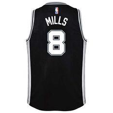 Nike San Antonio Spurs Patty Mills Icon Kids Swingman Jersey Black S, Black, rebel_hi-res