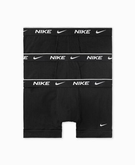 Nike Mens Everyday Cotton Trunks 3 Pack, Black, rebel_hi-res