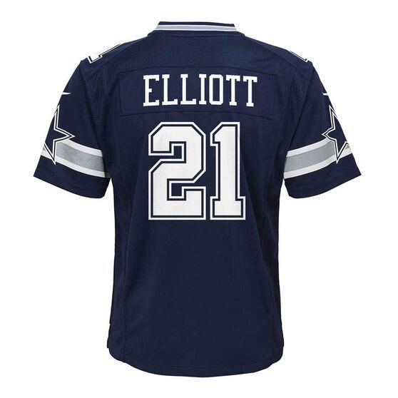 Dallas Cowboys Ezekiel Elliott 2020 Kids Jersey, Navy, rebel_hi-res