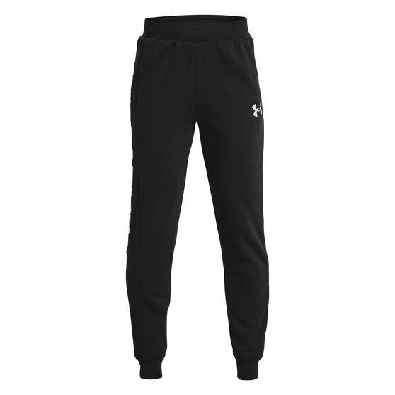 Under Armour Boys Baseline Fleece Pants, Black, rebel_hi-res