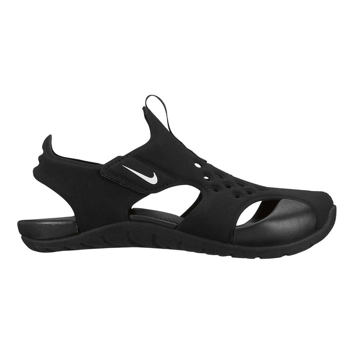 Us 2 3 Kids White Sunray Black Protect Nike Junior Sandals 4R5jLA