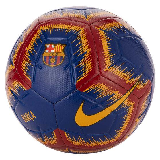 Nike FC Barcelona Strike Soccer Ball, Blue / Red, rebel_hi-res