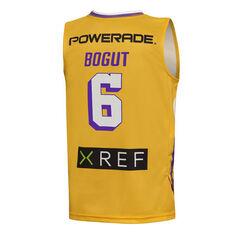 Sydney Kings Andrew Bogut 2019/20 Kids Away Jersey Yellow 6, Yellow, rebel_hi-res
