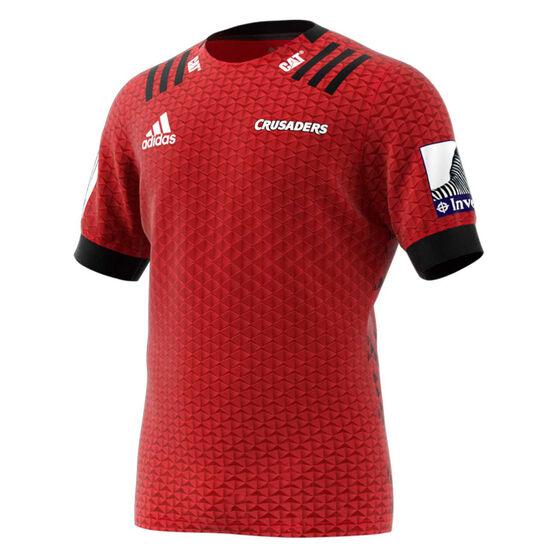 Crusaders 2020 Mens Home Jersey, Red / Black, rebel_hi-res