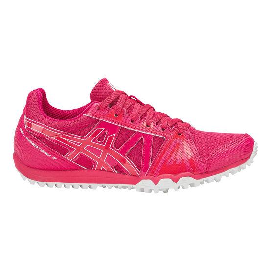 Asics Gel Firestorm 3 Junior Track Shoes, Pink / White, rebel_hi-res