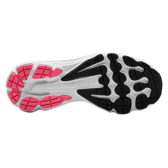 Under Armour Charged Intake 3 Womens Running Shoes, Black / Pink, rebel_hi-res