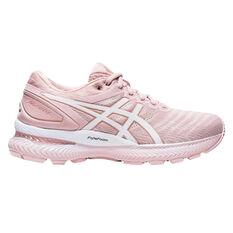 Asics GEL Nimbus 22 Womens Running Shoes Pink/White US 6, Pink/White, rebel_hi-res