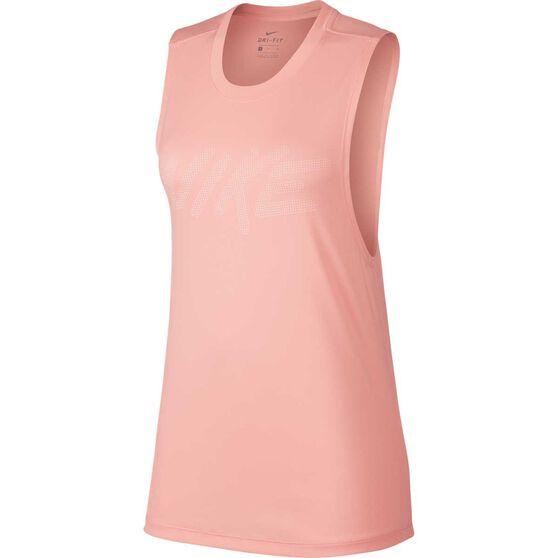 Nike Womens Dry Muscle Tank, Pink, rebel_hi-res