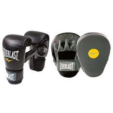 Everlast Boxing Glove and Mitt Combo Black / Grey S / M, Black / Grey, rebel_hi-res