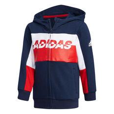 adidas Boys Training Jacket Navy / White / Red 3, , rebel_hi-res