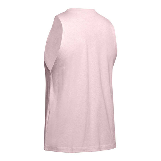 Under Armour Womens Sportstyle Graphic Muscle Tank, Pink, rebel_hi-res
