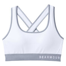 Under Armour Womens Crossback Sports Bra White XS Adult, White, rebel_hi-res