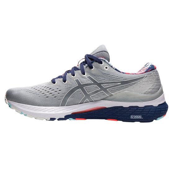 Asics GEL Kayano 28 Celebration of Sport Mens Running Shoes, Grey/Blue, rebel_hi-res