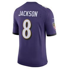 Nike Baltimore Ravens Lamar Jackson Mens Limited Home Jersey Purple S, Purple, rebel_hi-res