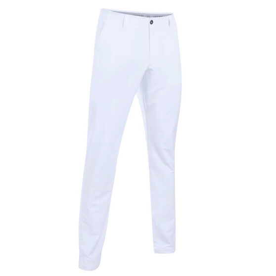 Under Armour Mens Matchplay Tapered Golf Pants White / Grey 34, White / Grey, rebel_hi-res