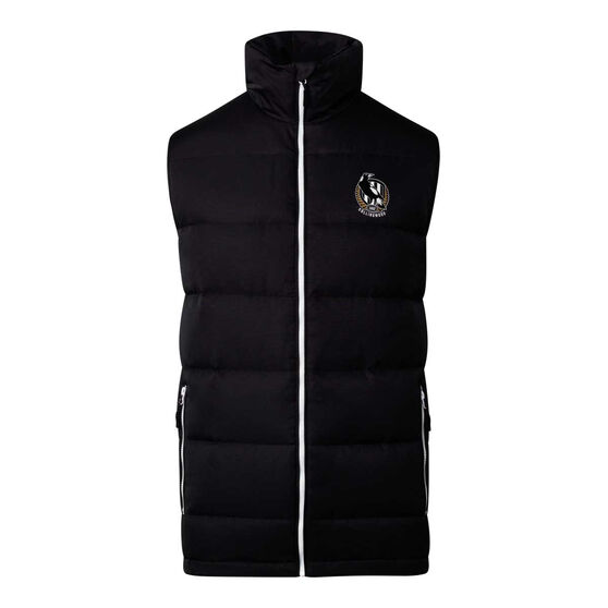 Collingwood Magpies 2020 Mens Down Vest, Black, rebel_hi-res