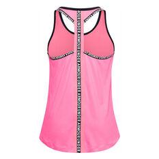 Under Armour Girls Knockout Tank Pink/Black XS, Pink/Black, rebel_hi-res